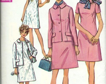 Simplicity 8462 Misses Half Size Dress, Jacket and Scarf Pattern, Size 18 1/2 UNCUT