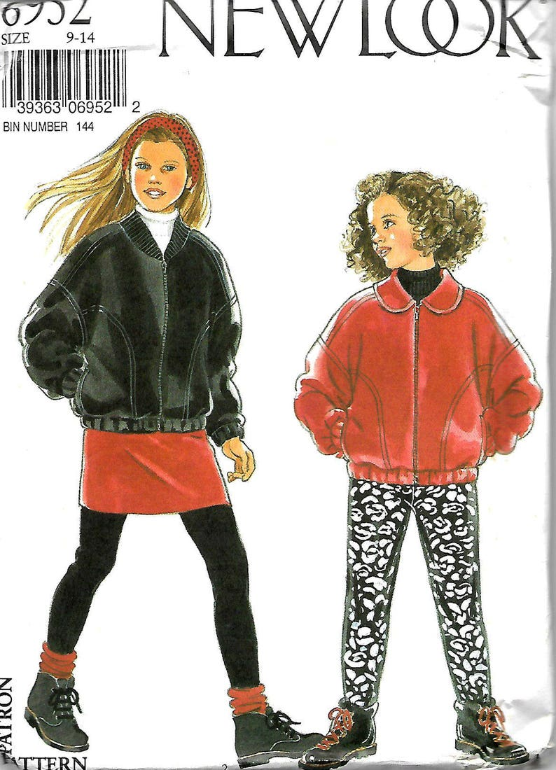 official photos aa93d 62447 New Look 6952 Girls Jacket Straight Skirt And Stirrup Pants   Etsy