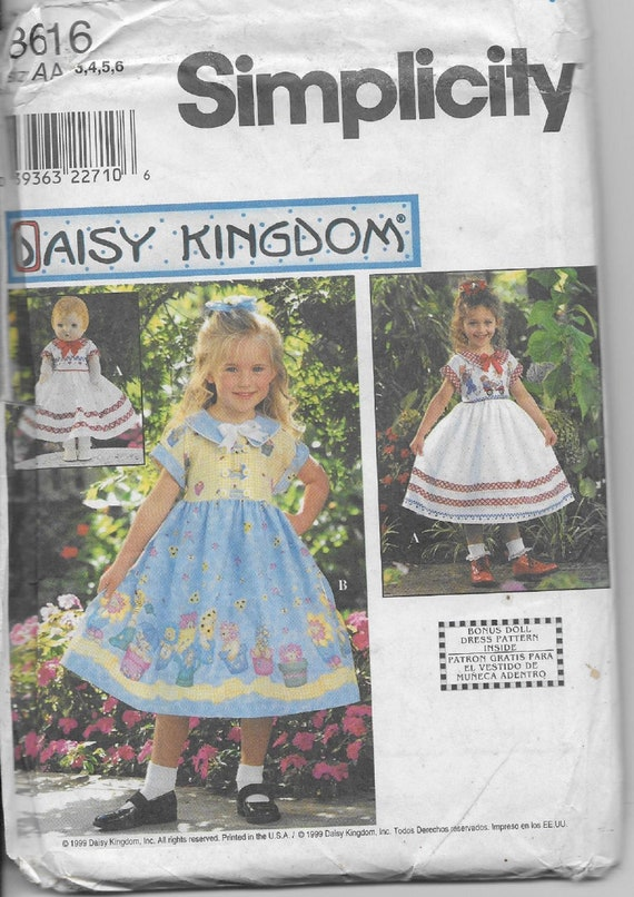 Simplicity 2992 Daisy Kingdom Outfits Pattern Sz ½-4