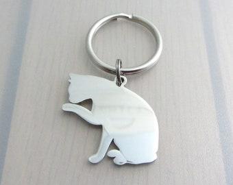 Cat Charm Keychain, Cat Charm Keyring, Cat Bag Charm, Pet Animal Purse Clip, Cat Gift, Animal Lovers Gift, Pet Lovers Gift, Gift For Her