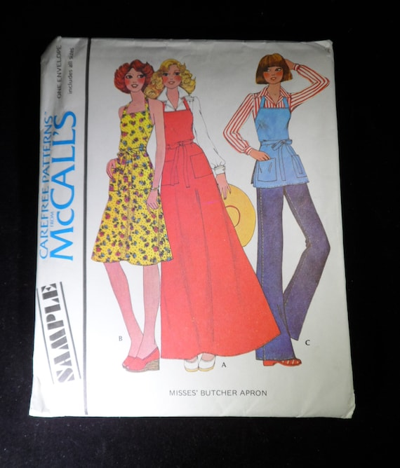 McCALL/'S SAMPLER LADIES BACK WRAP DRESS-TOP or BUTCHER APRON PATTERN   6-20 FF