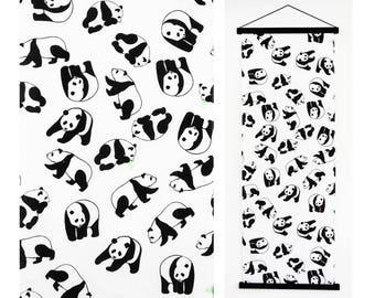 fashion doll towel etsy 1970s Barbie Pool tenugui japanese panda fabric japanese black panda bear japanese warp cotton kawaii fabric tea towel baby shower presentred