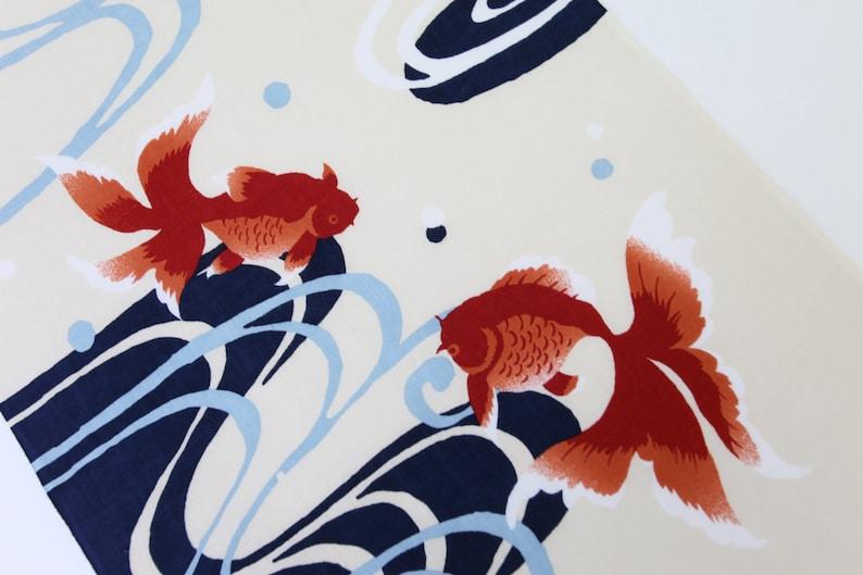 kimono fabric Japanese Tenugui red goldfish fabric kawaii kingyo fabric japanese tenugui cotton yukata fabric quilt fabric