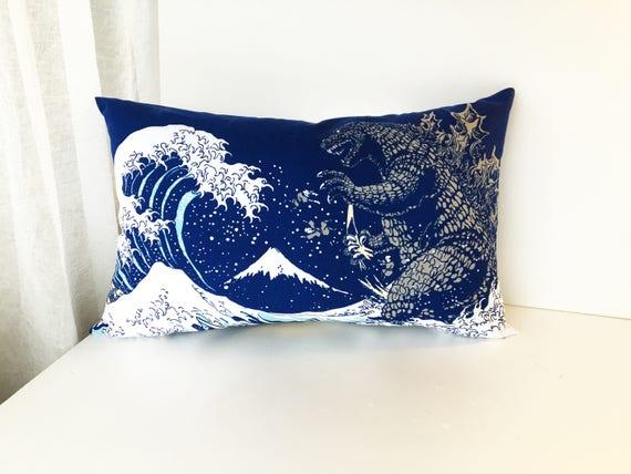 Godzilla pillow | Etsy
