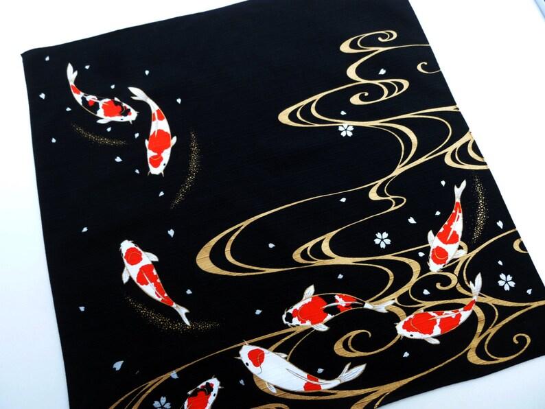461a30367d Tessuto Furoshiki panno giapponese carpa cotone Koi wrapping | Etsy