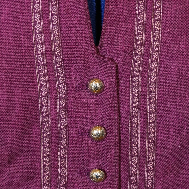 Dirndl bodice purple traditional bodice
