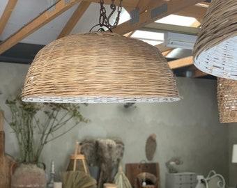 Old farm food cloche/lampshade/light