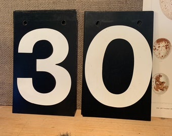 Scoreboard numbers 0 to 9 available