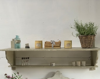 Nice old french chippy painted shelf