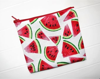 Small clutch bag or Purse with Watermelons