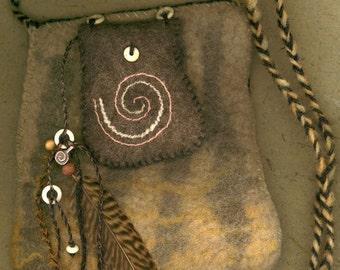 Nomad - wet felted bag