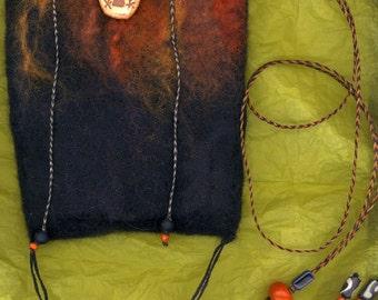 Moab, wet felted bag