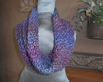 Hand Knit Cowl   Hand Knitted Cowl  Infinity  Cowl