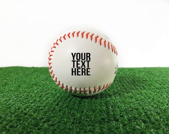 Personalized Baseball Custom Text or Logo, Custom Baseball, Printed Baseball, Baseball Gift, Baseball Team Award
