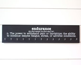 Medal Holder - Endurance Definition - Ultra Runner - Ironman - Large