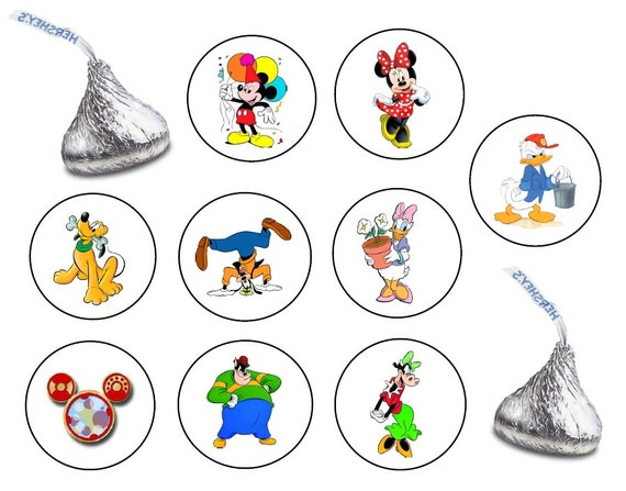 162 clasificados Hershey KISS adhesivos etiquetas Mickey Mouse | Etsy