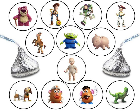 216 Assorted Toy Story Hershey Kiss Stickers Labels Birthday Etsy