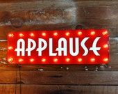 Marquee retro Applause lighted sign wall decor art deco vintage stage tv radio studio light up hanging