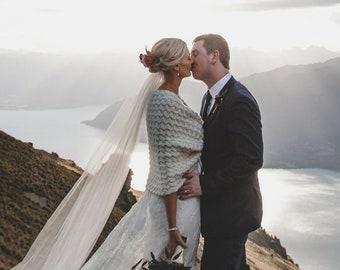 Unique Ivory Shrug, Bridal Shawl, Wedding Wraps, Crochet Stole, Bridesmaids Cover Up, Bridal Bolero, Wedding Cape, Bridal Scarf, Capelet