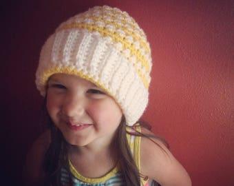 Crochet Pattern // Florence Beanie // Colorful Beanie // Written Pattern // Intermediate