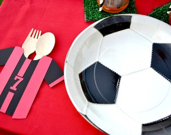 Soccer Jersey Cutlery Pouches (Set of 12)