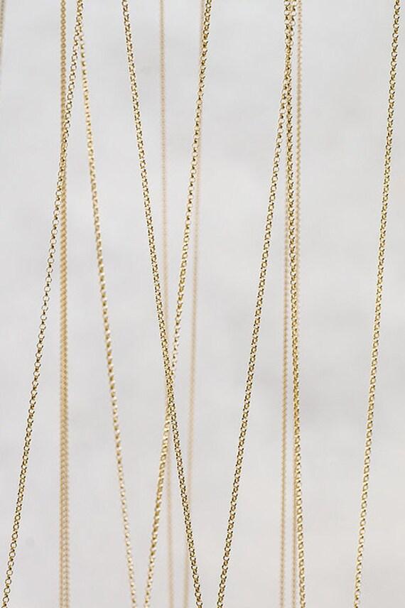 10K solide or jaune//or blanc fantaisie Câble Chaîne Véritable 10 Karat Gold
