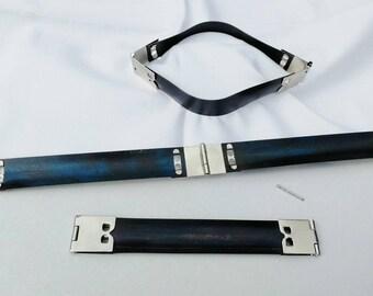 Feather closure, folding clasp, case cap 10 cm, glasses case, purse etc.