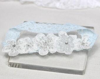Blue lace garter, wedding garter, lace garter, garter, bridal garter, bridal garter belt