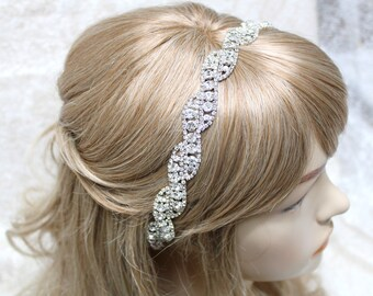 Bridal headband, Bridal head piece, Rhinestone headband, Wedding headband, Bridal hair piece, Bridal headpiece, prom headband