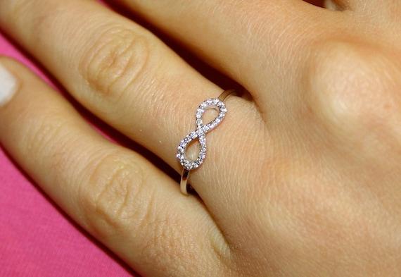 mode attrayante prix de gros les plus récents Anello diamante infinito, 18 k oro bianco e VS-G diamanti infinito anello,  anello di fidanzamento