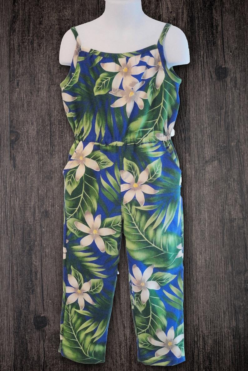 2f7ad9ab774 Hawaiian Dress Girls Hawaiian Jumpsuit Hawaiian Outfit for