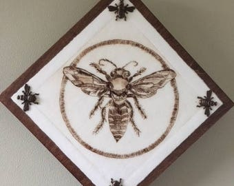 Bee Happy Limited Edition Drypoint Print