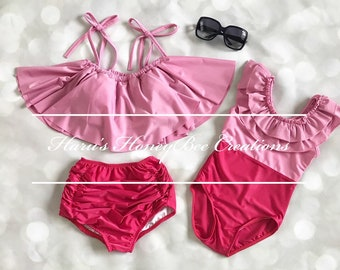 b1ecafd582 Mommy and Me Swimsuit Family Matching Mother Daughter Leaves Print Swimwear  Bathing Suit Baby Girls