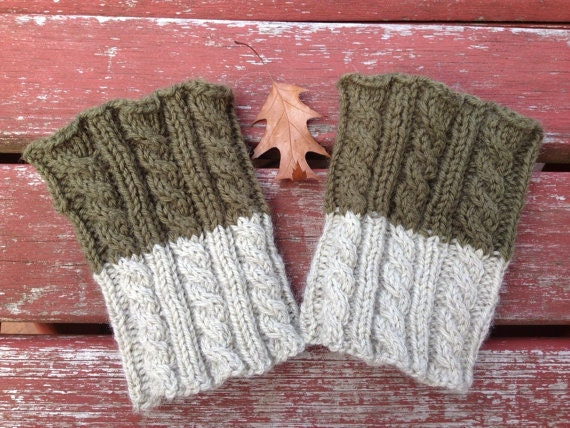 Knitting Pattern 2 In 1 Boot Cuffs Cabled Knitting Pattern Etsy