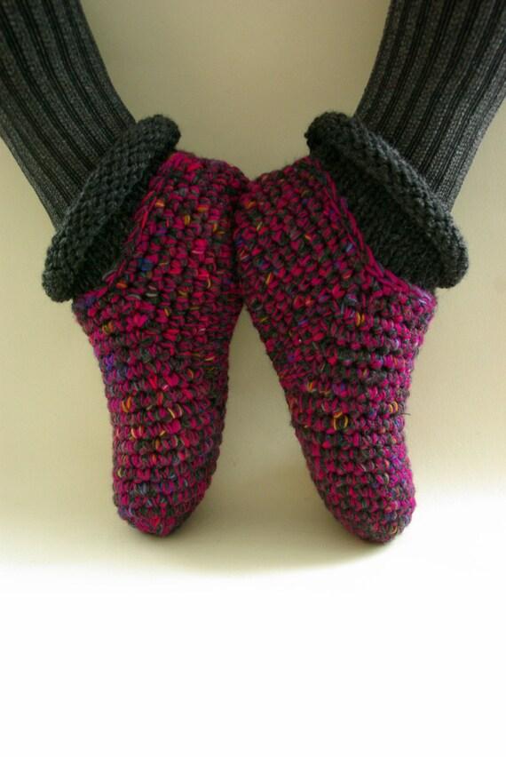 Ähnliche Artikel wie häkeln Pantoffel Socken, warme wolle Hausschuhe ...
