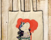 Cloth bag quot Unicorns not dead quot nature