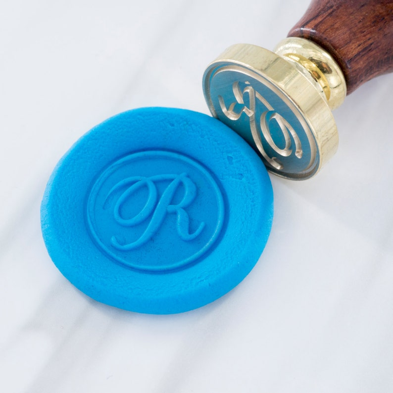 Wax Seal Stamp Set Calligraphy and Script Font Initial simple image 0