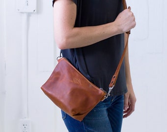 22a089256cc0 Genuine Leather Crossbody Purse Brandy Crossbody Bag Minimalist Bag Gifts  for Her Monogram Crossbody Christmas Gift For Her Lifetime