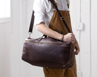 Handmade Leather Duffle Bag Duffel Bag Leather Bag Leather Backpack for Men Full Grain Leather Arizona - Lifetime Leather