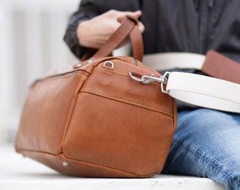 Handmade Leather Duffel Bag Duffle Bag Leather Bag Crossbody Bag Backpack for Men Full Grain Leather TSA Approved- Lifetime Warrantee