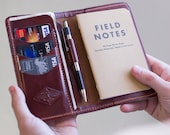 Personalized Leather Field Notes Wallet, Father 39 s Day Gift, Field Notes Cover, Moleskine Cover, Passport Wallet, Personalized Handmade Gift