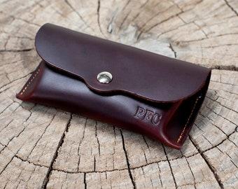 2935cd2e8677 Leather Eyeglasses Case Holder Sunglasses Case Christmas Gifts Brown Black  Green Blue- Handmade in Arizona Full Grain Leather