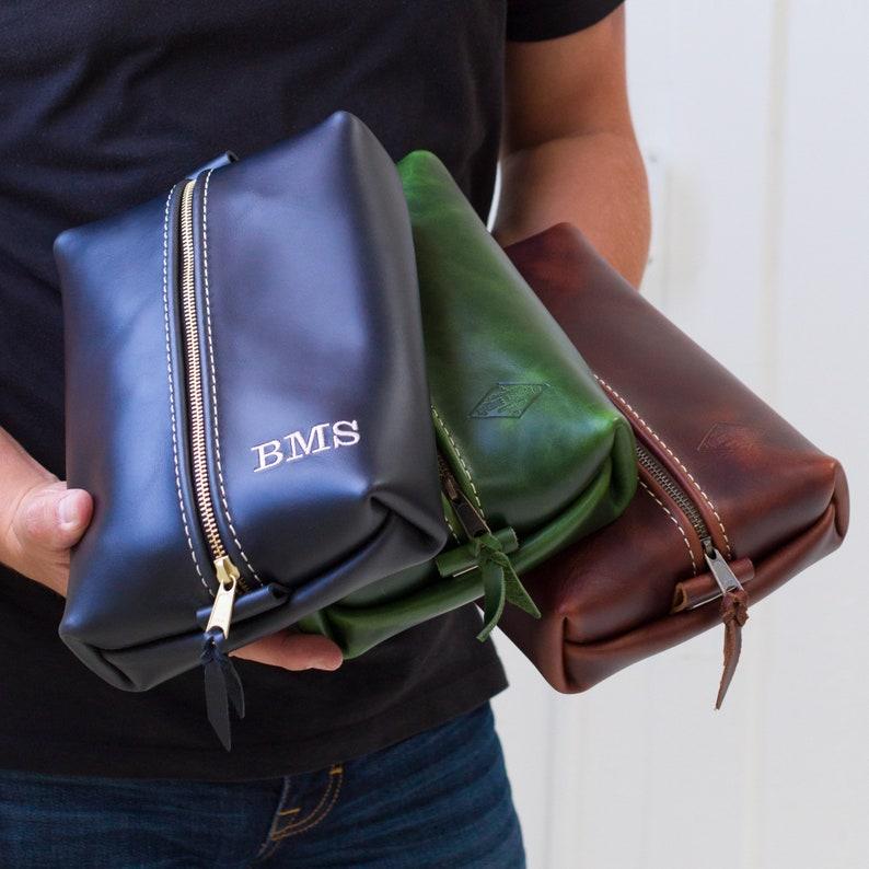 9bafe4b57b22 Heirloom Leather Dopp Kit Bag Groomsmen Gift Personalized