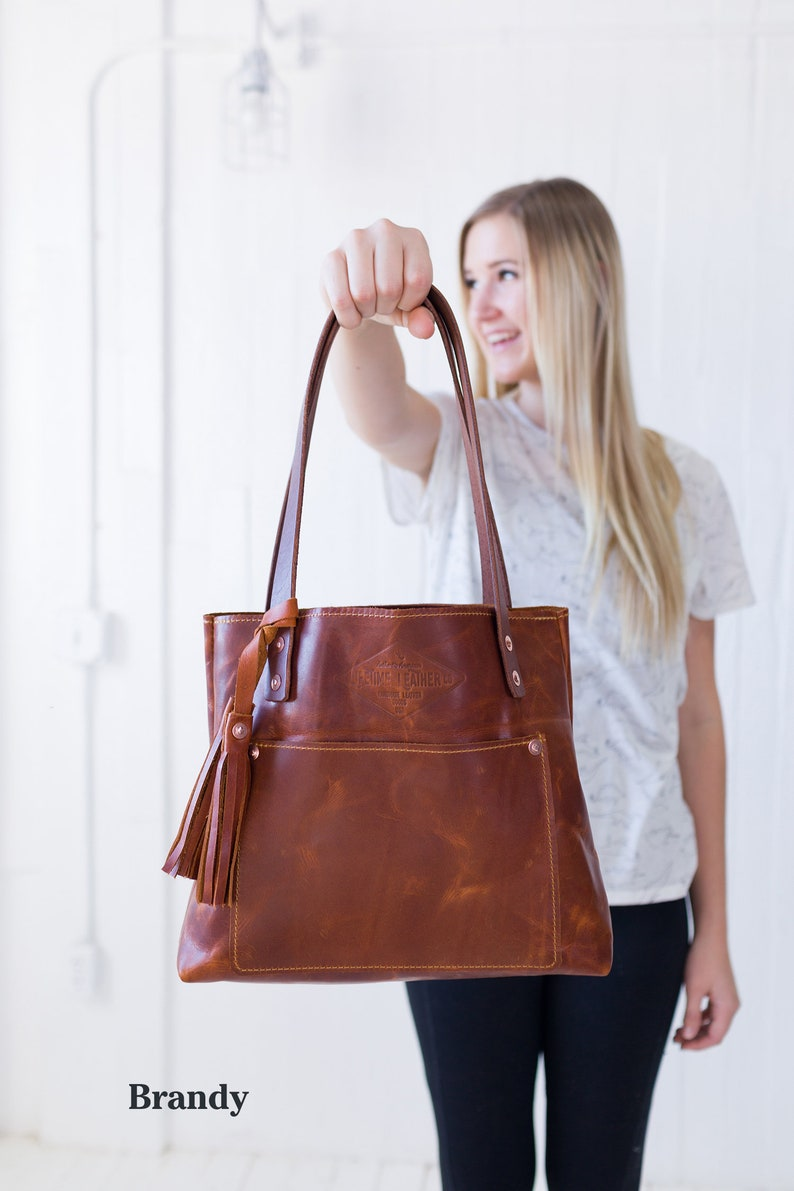 a5efee7ce97e Brandy Small Leather Tote Bag for Women Small Leather Bag