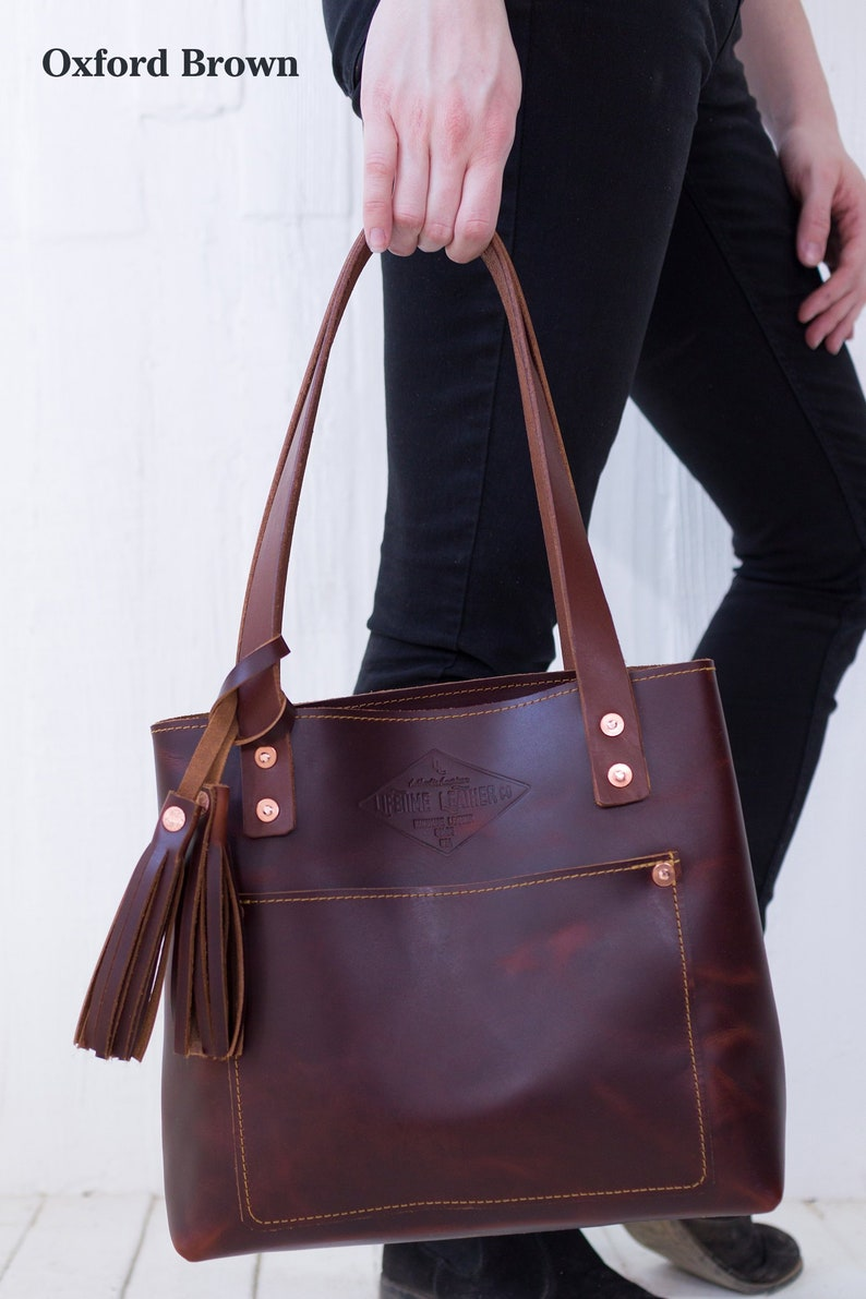 efcf35b795c7 Small Brown Leather Tote Bag for Women Small Leather Bag