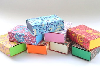 100 assorted printed match box style Gift box, Packaging supply,wedding favor box, , Jewelry Packaging Boxes