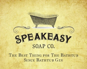 Speakeasy Party Favors & Gift Soap, Gatsby party favors, 1920s party favors, soap wedding favors, shower favors