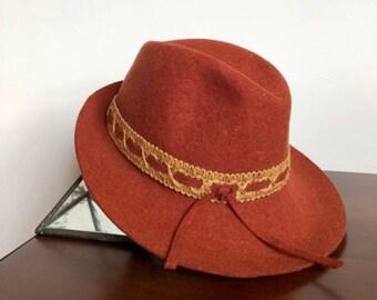 04ac1ae9900 70s Doeskin Felt Wool Bollman Co. Hat
