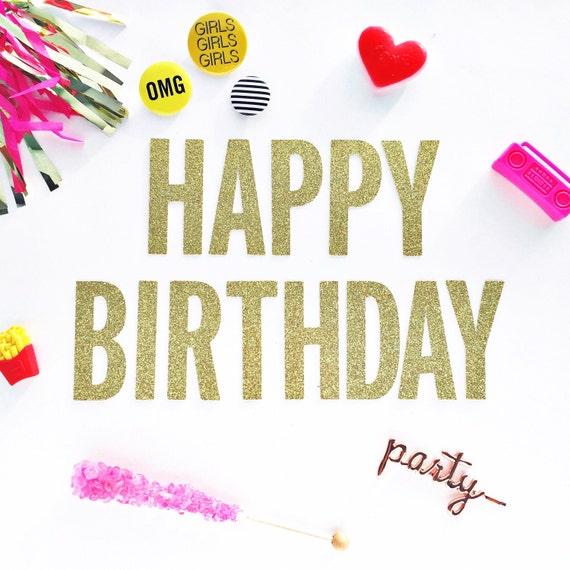 Happy Birthday/ Banner/ Garland/ 21st Birthday/ 30th