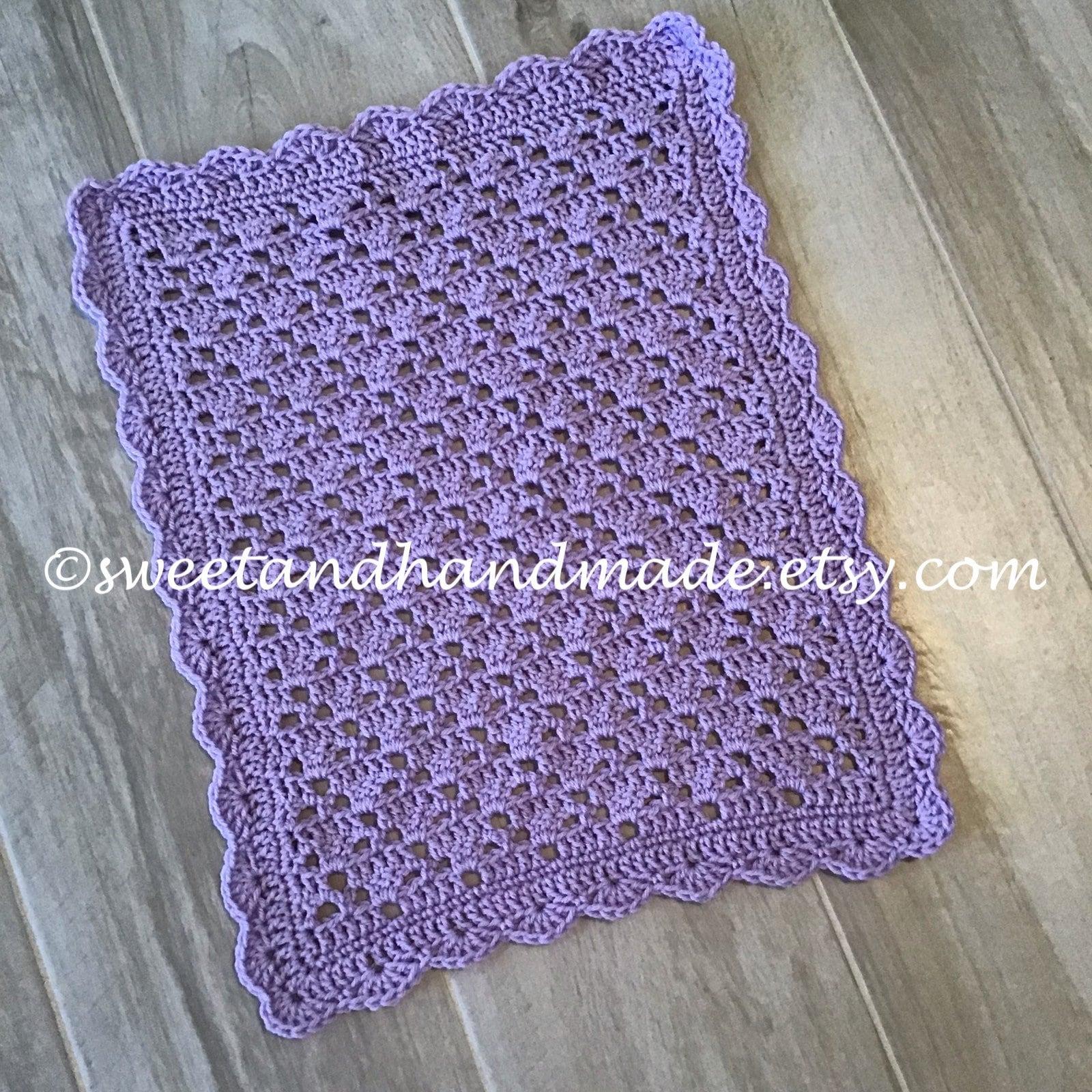 Doll Blanket Crochet Doll Blanket Lavender Doll Blanket Etsy